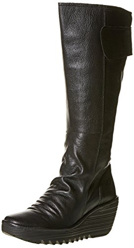 Fly London Yulo688fly Ladies Boot UK4 EU37 US6.5/7 Black Mousse