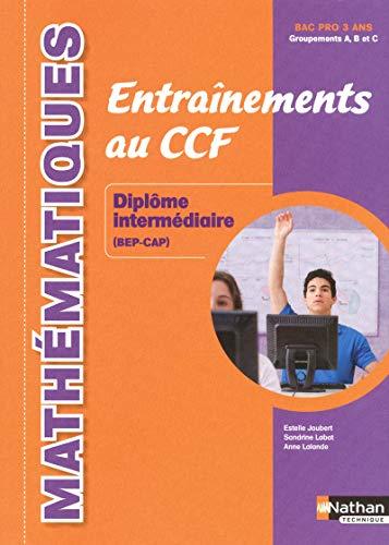 Mathématiques - Entraînements au CCF