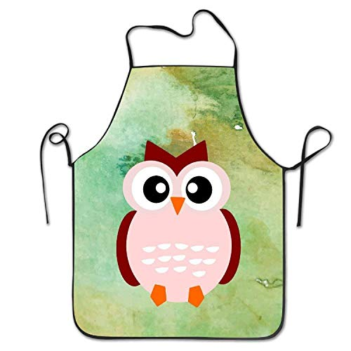 HTETRERW Cute Animal Cartoon Fall Owl BBQ Women's Men's Funny Creative Print Cooking Aprons (Professionelle Cartoon Kostüm)