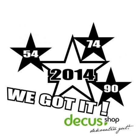 Decus 54 74 90 2014 We GOT IT L 1176 // Sticker OEM JDM Style Aufkleber (rosa)
