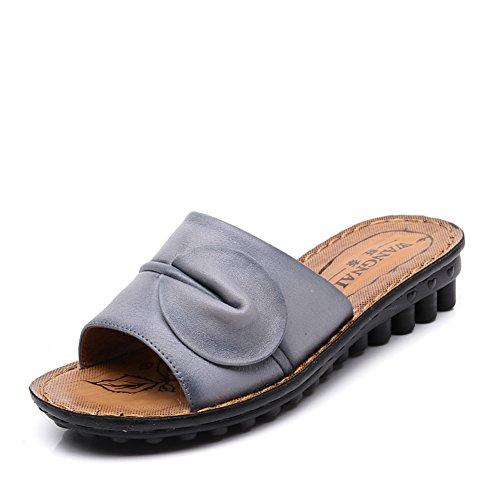 Lady slipper/Au milieu en bas doux et souliers pour dames âgées vieux/Chaussures de maman maison pantoufles dérapage résistantes E