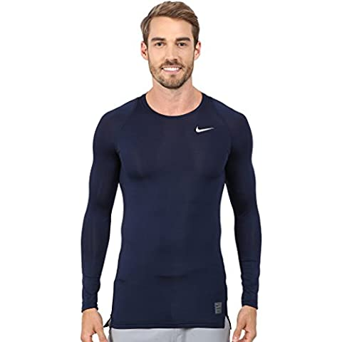 Nike Herren Langarmshirt Cool Compression Long Sleeve Top, Obsidian/Dark Grey, L, 703088-451