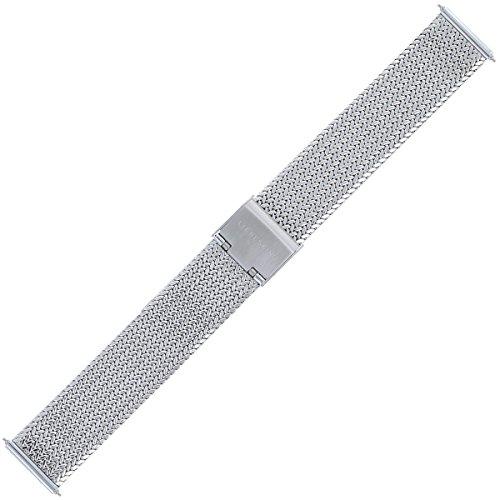 Liebeskind Berlin Uhrenarmband 18mm Edelstahl Silber - Uhrband 108
