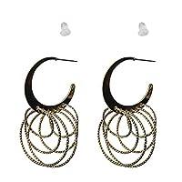 IKBEN Earrings for women, multi size and multi hoop earrings, gold color