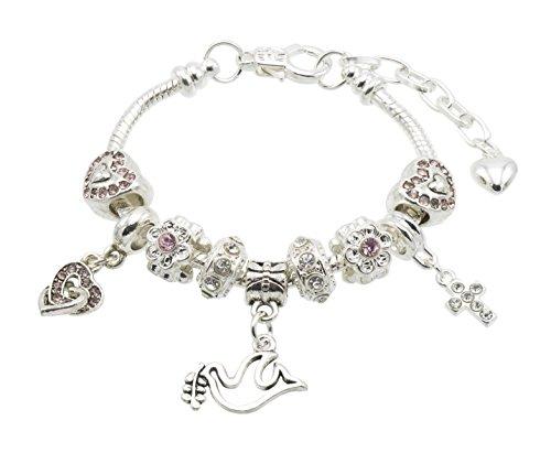 Sparkly Bestätigung Charme Armband für Mädchen mit Geschenk-Box und der Einsatz