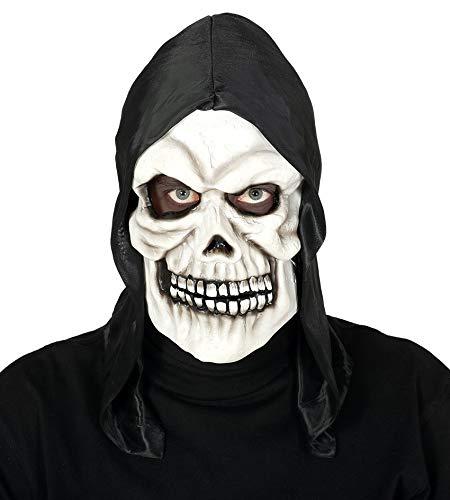 Fiesta Guirca Grusel Maske Totenkopf Skelett mit Haube Halloween