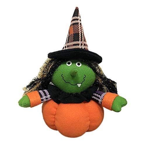 Swiftt Halloween Dekoration Plüsch Puppe Hexe, Geist, Schwarze Katze für Kinder Geschenk