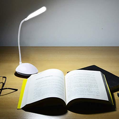 Webla Kreative kleine Tischlampe faltbar kreative Batterie dimmbar Schreibtisch Nachtlicht Schlafzimmer Tisch, 10x10x4cm -