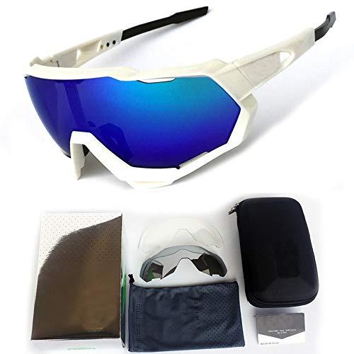 M.J.ZUR Sport-Sonnenbrille Driving Glasses Shade Unzerbrechlicher Rahmen für das Radfahren (Color : 5, Size : One Size)