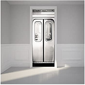 kangrunmys stickers de porte 77x200 cm autocollants de. Black Bedroom Furniture Sets. Home Design Ideas