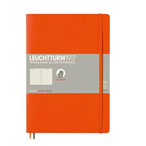 LEUCHTTURM1917 349278 Notizbuch Softcover Composition (B5), liniert, Orange