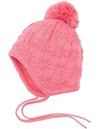 maximo Baby-Mädchen Mütze, Ausgenäht, Bindeband, Struktur