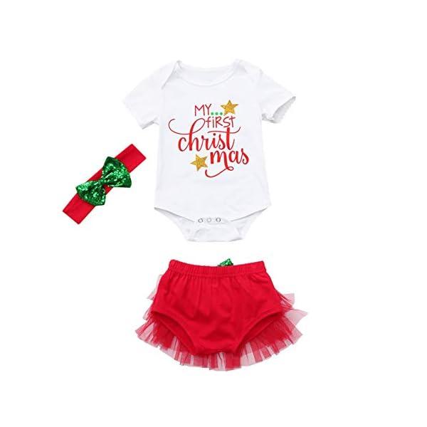 HCFKJ Ropa Bebe NiñA Invierno NiñO Manga Larga Camisetas BEB Conjuntos Moda ReciéN Nacidos BebéS Bebé NiñAs Navidad… 1