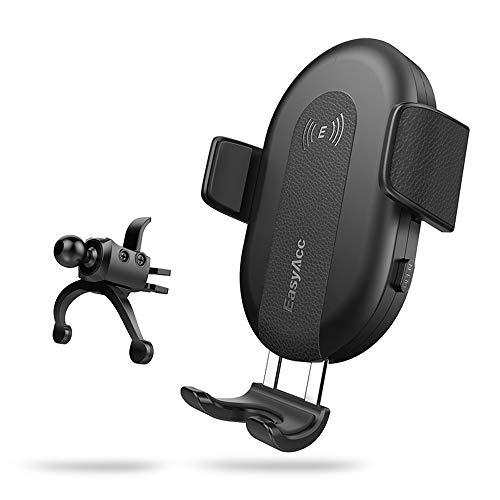 EasyAcc Caricabatterie per auto Wireless con supporto per iPhone XS Max, XR, X, 8+, Supporti per auto Qi Inductive per S10 S9 S8
