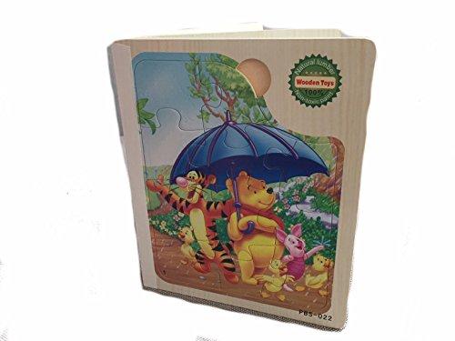 Lia Holzpuzzle BUCH 6x Steckpuzzle Puzzle Winnie Pooh und seine Freunde, Holzspielzeug, Spielzeug Geschenk