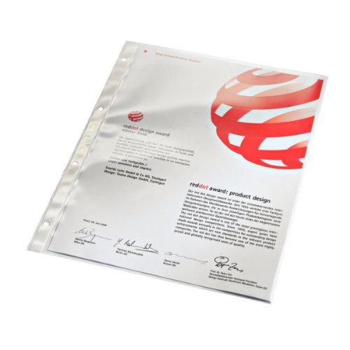 Preisvergleich Produktbild Leitz 4734-00-00 Prospekthüllen dokumentenecht A4/80my glasklar Inh.100