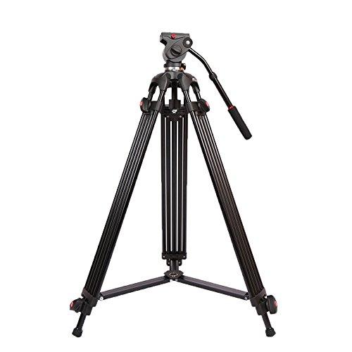 Foto Andoer Treppiede reflex leggero Altezza di 90cm a 180cm Treppiedi Professionale per Canon NiKon Sony Videocamera DV Fotocamera DSLR con il sacchetto