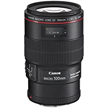 Canon 100 / 2,8L Macro IS USM - Objetivo para Canon (distancia focal fija 100mm, estabilizador) color negro