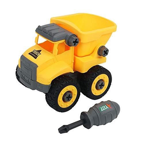 Kikioo Spielzeug zum Auseinandernehmen Auto, Push and Go Reibung Inertial Engineering Auto Kipper Spielzeug Montage Mini Baufahrzeuge Spielzeug mit Schraubendreher für Kleinkinder im Freien Geschenk 3 - Story 4k Toy