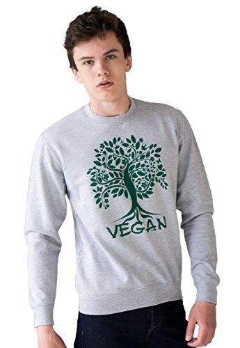 Vegan Sweatshirt - Tree of Life - Herbivore Vegetarian Earth Activist Plant Based Men's Women's Unisex Graphic Printed Top Jumper