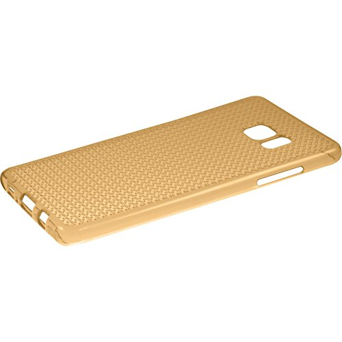 PhoneNatic Case für Samsung Galaxy Note FE Hülle Silikon gold Iced Cover Galaxy Note FE Tasche Case Gold