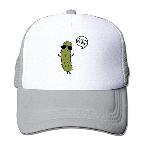 Hoswee Unisex Kappe/Baseballkappe, Men's Mesh Back Trucker Cap I'm Kind of A Big Dill Snapback Hat