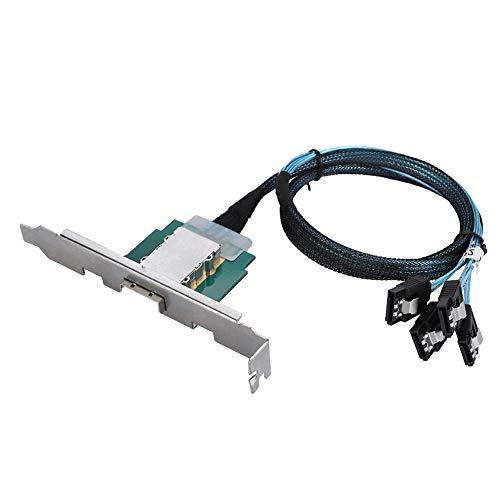 Preisvergleich Produktbild Tonysa 100% nagelneu Datenübertragungskabel, SATA Server Switch Datenübertragungsleitung mit Die SAS Schnittstelle / SCSI Technologie / ABS Material, Unterstützung für SATA Laufwerken