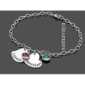 Freundschaft Armband TWO HEARTS 925 Silberarmband Herz Familienschmuck