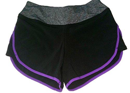 Hosaire Femme Short de Sport Short respirant pour Sport/Yoga/Course Violet