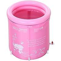 Bañera Inflable para el Medio Ambiente Bañera Plegable Bañera Baño Adulto Barril -by BOBE Shop (Color : Pink)