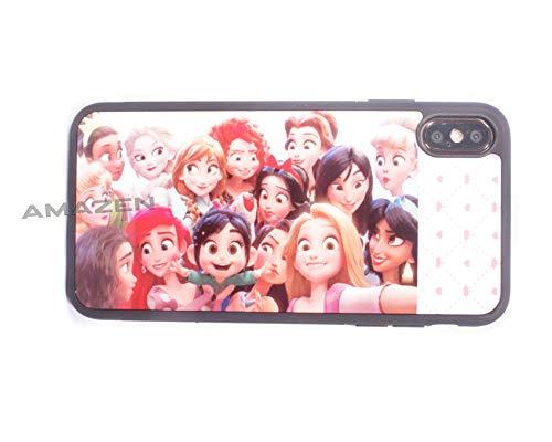 AMAZEN Gummi-Schutzhülle für iPhone XS Max, XS MAX-All Princesses