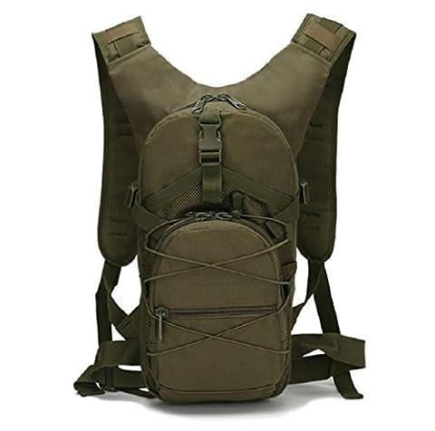 ZC&J Capacité de 15L en plein air à vélo camouflage tactique portable sac à dos d'escalade, imperméable à l'eau, Oxford, tissu, solide, usure, réglable, sangle, bandoulière,A,15L