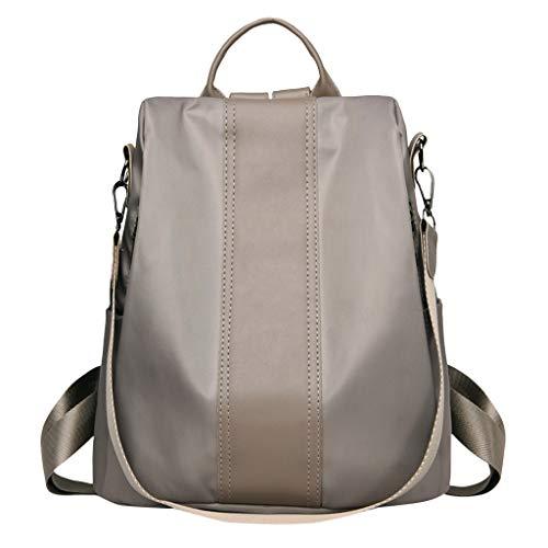 sische Solide Reißverschluss Reiserucksack Schultasche Computer Tasche Umhängetasche Multifunktionale Große Kapazität Tasche ()