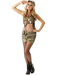 Rubie's Official Unisex Real Appeal Army Annie Adult's Costume Stag Hen Night Saucy Fun Sexy