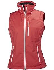 Helly Hansen W Crew Mujer Vest Chaleco, primavera/verano, mujer, color pimienta, tamaño extra-large