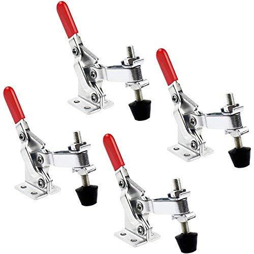 Gummi-stahl-schrank (Pingranso Pull Verriegelung - Quick Release Metall Horizontal Schnellspanner Toggle Clamp Werkzeug - 90 kg 198lbs Fassungsvermögen)