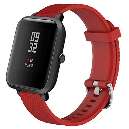 BOBOLover Moda Deportes Pulsera Correa Banda de Silicona Reemplazo de la Correa de la Banda del Reloj Deportivo de Silicagel Suave para Xiaomi Amazfit Bip Reloj Juvenil