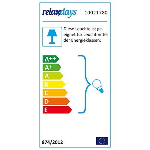 Relaxdays Hängeleuchte Kugel, Pendelleuchte im Globus Design, höhenverstellbare Deckenlampe aus Metall, Ø 30 cm, weiß