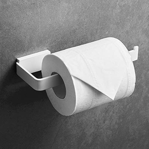 WOMAO WC Toilettenpapierhalter, Weiß Klorollenhalter, Wand Papierhalter, Borhen Wandmontag aus Edelstahl Modern Elegant Stil