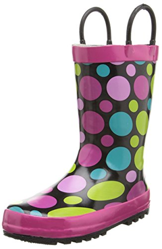 Western Chief Kids Dot Party Rain Boot (Infant/Toddler/Little Kid) Black