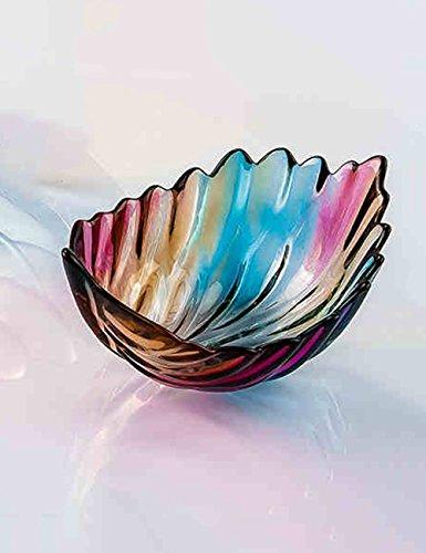 Piatto di frutta-- Creative Glass modo con vetro colorato lastra di piombo - piastra libero di vetro frutta secca piatto di frutta --Health E tutela ambientale ( dimensioni : 19*14*10cm )