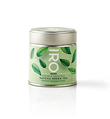 IRO - Thé Matcha japonais BIO de qualité supérieure - Premium Ceremonial Grade - 30 g - 100% bio - 100% naturel - 100% japonais - Matcha excellence - 1 boîte de 30 g = 30 bols de thé Matcha