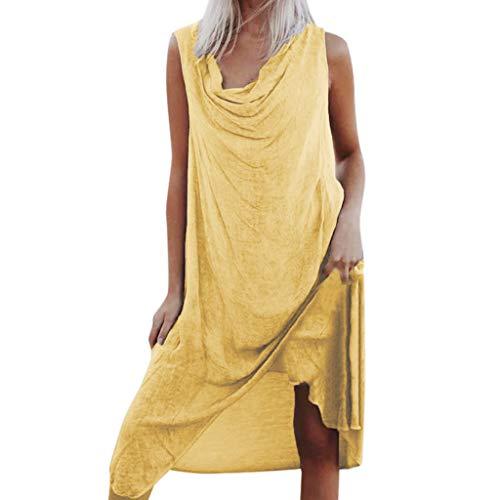 ösen Strandkleidart und Weisefrauen reizvollen Sommer beiläufigen Normallack Sleeveless Oansatz Normallackstrandrock ()
