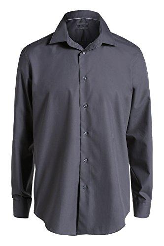 ESPRIT Collection - 995Eo2F901, Camicia formale da uomo,  manica lunga, collo classico grigio(Grau (ASH GREY 022))