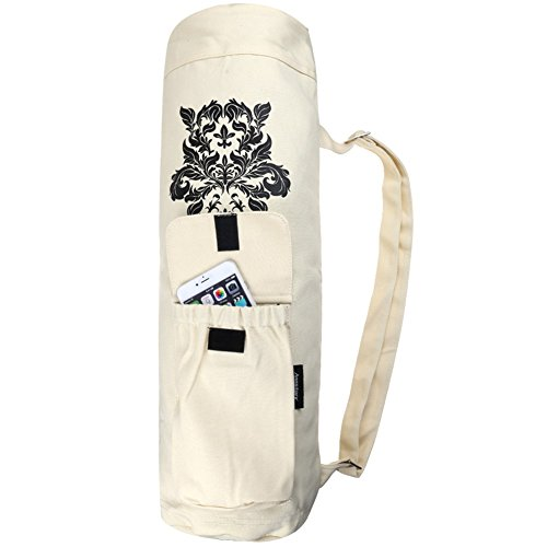 f81edec488e Annstory Yoga Mat Bag by, High-quality canvas Yoga Bag for Extra Wide Yoga  Mat and Gym Mat with 2 Multi-Functional Storage Pockets