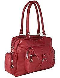 Bizanne Fashion Vogue Women's Synthetic Handbag (Maroon)