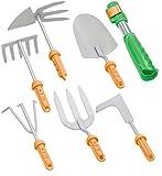 Royal Gardineer Gartenwerkzeug: 7-Teiliges Garten-Werkzeug-Set mit 6 Wechsel-Aufsätzen und Handgriff (Gartengeräte)