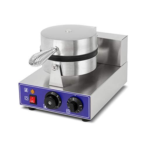 vertes Piastra per Waffle Belga Singolo Professionale (1000W capacità, Comoda Funzione Timer, Temperatura 0-350°C, Acciaio Inossidabile, Gastronomia)