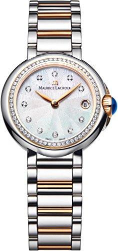 Maurice Lacroix FA1003-PVP23-170 Ladies Fiaba Round Two Tone Watch with Diamonds