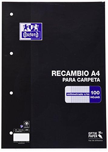 Oxford Classic 100430212 - Recambio hojas sueltas, A4